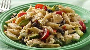 chicken pasta salad mediterranean chicken pasta salad recipe tablespoon com