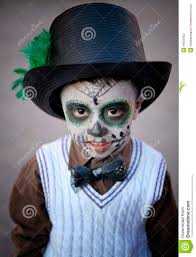 halloween costume mexican skeleton boy with painted face mexico editorial photography image 46550452