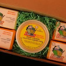 cheese gift box four cheese spread box m kraemer wisconsin cheese
