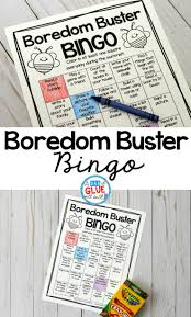 Bored At Home Create Your Own Zoo Boredom Buster Bingo For Summer A Dab Of Glue Will Do