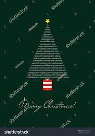 card tree merry stock vector