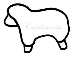 easter crafts free craft template for a sheep