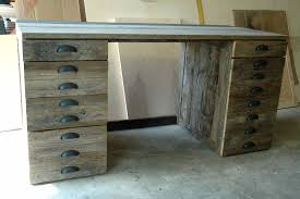 Wooden Desks For Home Office Furniture Rustic Handmade Reclaimed Oak Wood Desk With Storage