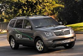 kia motors debuts borrego fuel cell prototype and 2009 kia soul at