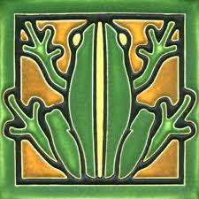 Ceramic Tiles For Crafts Decorating Motawi Tile Green Frog 4 X 4 Inches