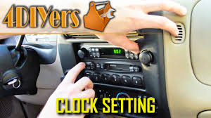 diy ford ranger clock setting youtube