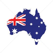 map od australia australia flag on map vector image 1961259 stockunlimited