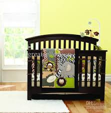 Crib Bedding Animals New Embroidered 3d Animals Brown Color Boy Baby Cot Crib Bedding