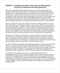 management consulting agreement sample standard consulting