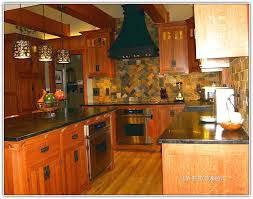 mission style cherry kitchen cabinets home design ideas