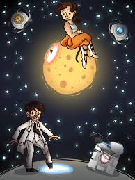 Cube Mural Fly by Fly Me To The Moon By Spencella Deviantart Com Rattman Chell
