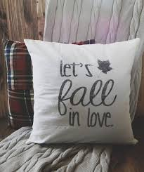 Thanksgiving Pillow Covers Let U0027s Fall In Love 16 X 16 Fall Pillow Cover Seasonal Home Decor