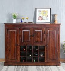 Large Bar Cabinet Buy Trafford Bar Cabinet In Warm Rich Finish By Amberville