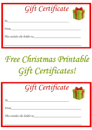free christmas gift certificate template printable 2017 business