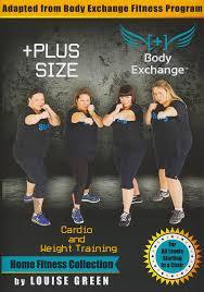 Chair Cardio Exercises Amazon Com Plus Size Workout Cardio U0026 Weight Training With