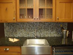 mosaic tile backsplash and completed kitchen with mosaic tile