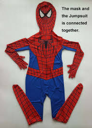 kids nwt marvel the amazing spider man 2 jumpsuit mask halloween