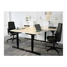 Sit Stand Office Desk Bekant Corner Desk Right Sit Stand Birch Veneer Black Ikea