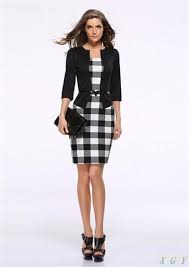 casual dress plaid business casual dress w belt different colors