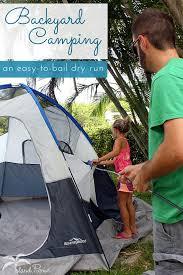 backyard tent camping a not so dry run