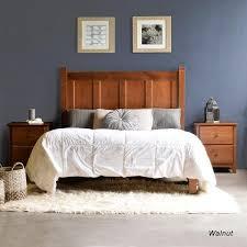 Walnut Bed Frame Shaker Panel Platform Bed Grain Wood Furniture
