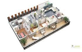 3 Bedroom House Design Apartment Graceful 3 Bedroom Apartment Design Plan Large Floor