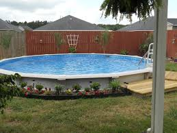 Rock Backyard Landscaping Ideas by Decorative Above Ground Pool Landscaping Ideas Designs Ideas And