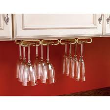 How To Make A Wine Rack In A Kitchen Cabinet Stemware Storage Kitchen Cabinet Organizers The Home Depot