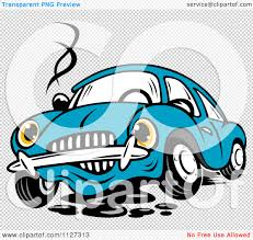 teal car clipart clipart of a worried broken down blue car royalty free vector