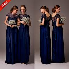 new high neck cap sleeve satin lace bridesmaid dresses party dress