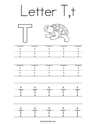letter t t coloring page twisty noodle tracing alphabet