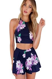 top jumpsuit com zhu s floral crossed back halter crop top jumpsuit