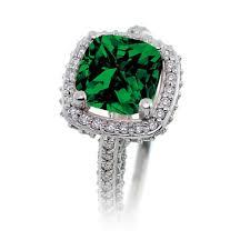 Diamond Cushion Cut Ring 2 5 Carat Cushion Cut Designer Emerald And Diamond Halo Wedding