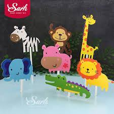 giraffe cake topper 1 set animal world giraffe elephant lion shape cake topper with