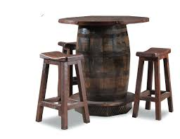 rustic pub table and chairs farmhouse pub table reclaimed wood bar height rustic dining round