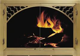 fireplace doors glass fleshroxon decoration