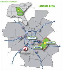 Atlanta International Airport Map by Economic Development U2013 Rockdale County Website