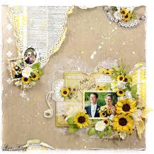 wedding scrapbook page sunflower wedding layout a creative spell