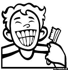 Toothbrush Clipart Coloring Page Pencil And In Color Toothbrush Brushing Teeth Coloring Pages