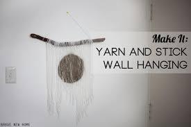 Stick Wall Yarn Stick Diy Wall Hanging Diycandy Com