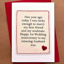 1st wedding anniversary card for husband gift ideas bethmaru
