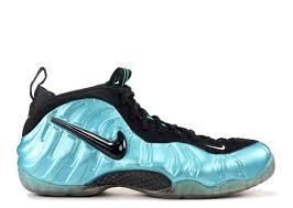 Black White Turquoise Teal Blue by Air Foamposite Pro