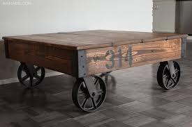factory cart coffee table u2014 nn made