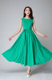 fit and flare dress turquoise dress handmade dress fit flare dressmaxi chiffon
