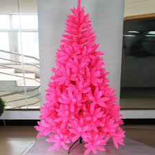 china 7ft artificial tree with pink color made of pvc