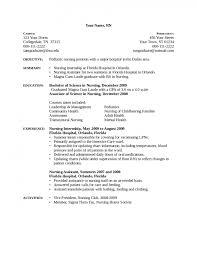 Objective For Nurse Resume Glamorous Nurse Resume Example New Grad Nursing Sample Registered