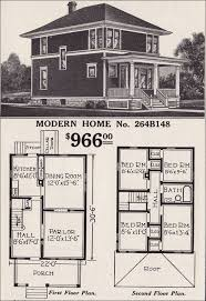classic foursquare sears modern home no 264b148 hipped roof