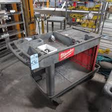 group of lots 535 536 milwaukee tool cart