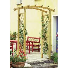 curved top garden arch with trellis parcel in the attic