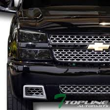 2005 chevy silverado 2500hd tail lights amazon com topline autopart smoke crystal head lights ls